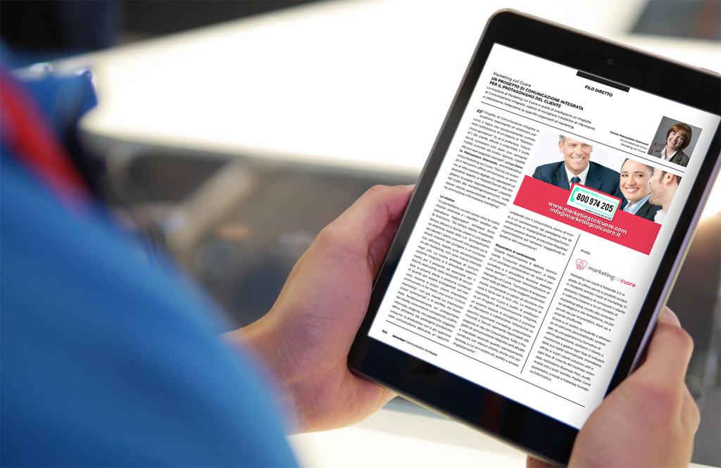 """Estratto rivista """"advertiser"""" – dicembre 2016: ci siamo anche noi"""